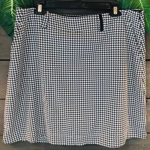 Nike Dri Fit Golf Houndstooth Skirt Size 14